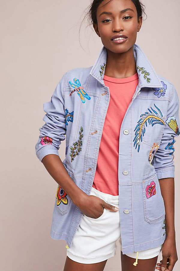 dab48a2ef1b Anthropologie Embroidered Patch Jacket £148
