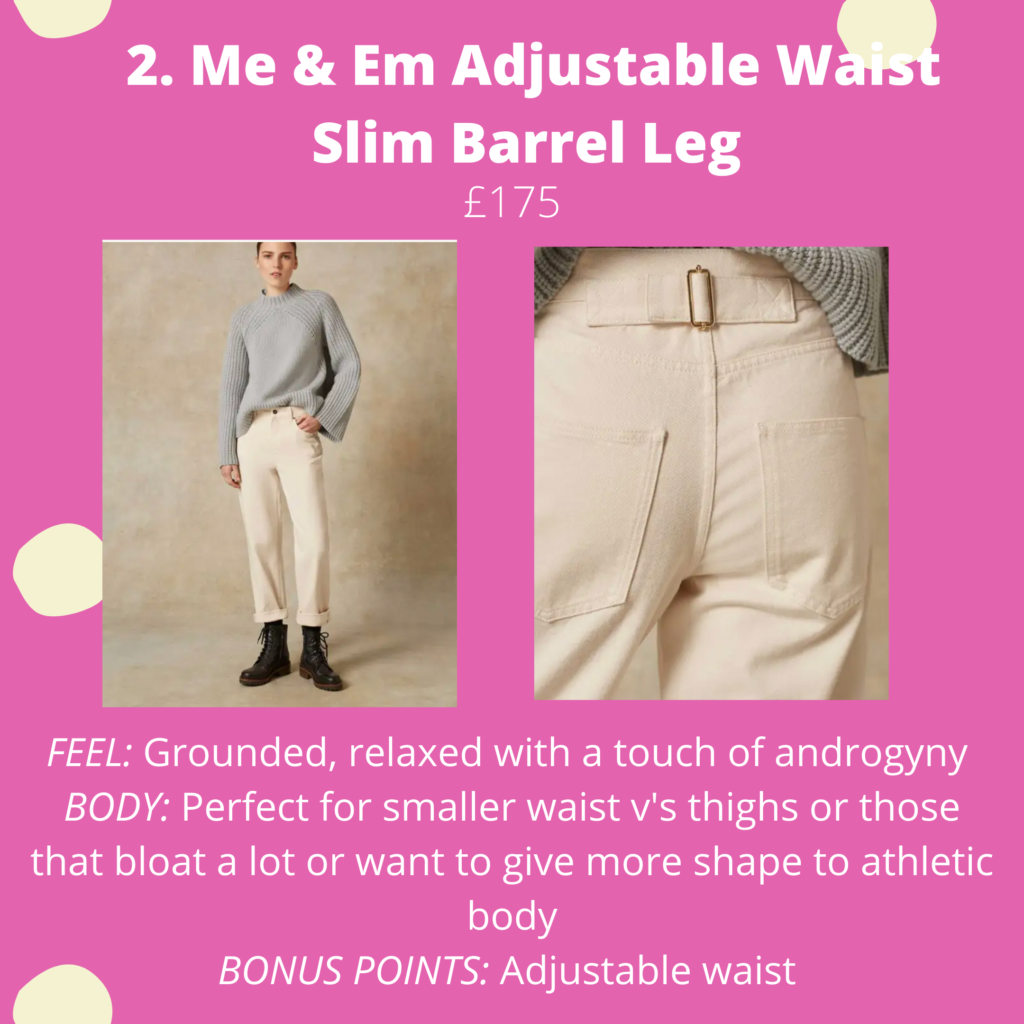 Me & Em Adjustable Waist Slim Barrel Leg