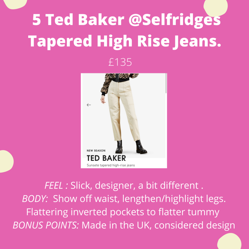 Ted Baker Tapered High Rise Jean
